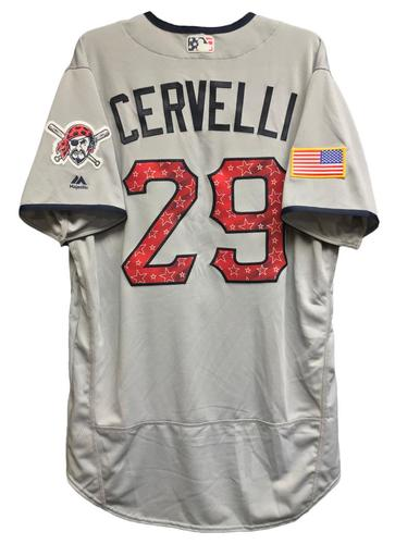 Photo of Francisco Cervelli Team-Issued 2018 Stars and Stripes Jersey