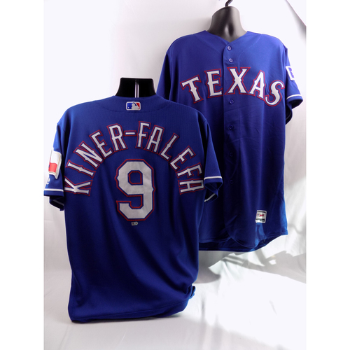 Photo of 8/10/18, 8/21/18 - Game-Used Blue Jersey - Isiah Kiner-Falefa