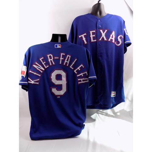 Photo of 8/10/18, 8/21/18 - Game-Used Blue Jersey - Isiah Kiner-Falefa