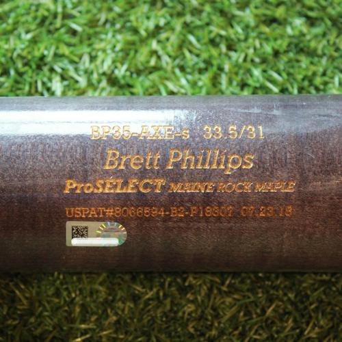 Team-Issued Bat: Brett Phillips