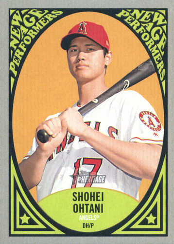 Photo of 2019 Topps Heritage New Age Performers #NAP14 Shohei Ohtani