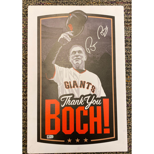 Photo of Thank You BOCH! Ceremony Podium Sign Autographed by #15 Bruce Bochy