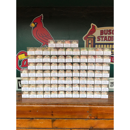 Cardinals Authentics: Game-Used Baseball Auction from the 85 Cardinals Home Games from 2019 Season (Postseason Included)