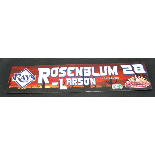 Photo of Arizona Fall League - Game-Used Locker Tag - Simon Rosenblum-Larson (TB), Jersey Number: 28