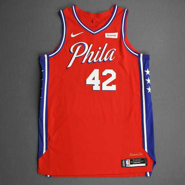 Image of Al Horford - Philadelphia 76ers - Game-Worn Statement Edition Jersey - 2019-20 Season