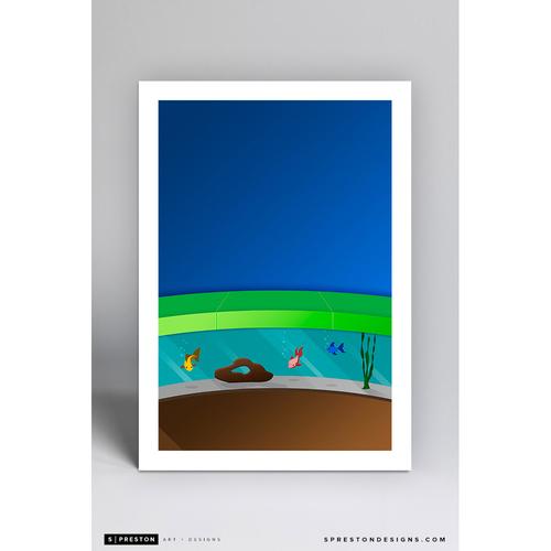 Photo of Marlins Park - Minimalist Ballpark Art Print by S. Preston  - Miami Marlins
