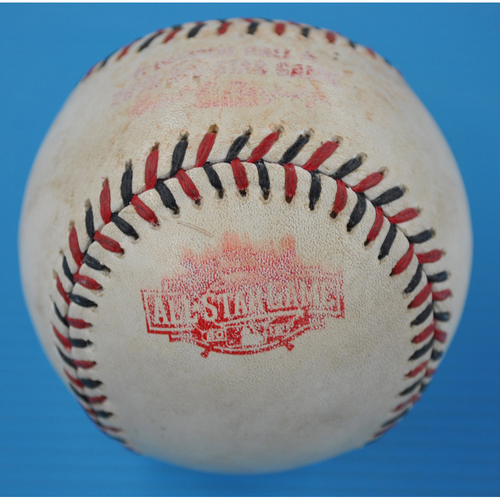 Photo of Game-Used Baseball - 2015 All-Star Game - Batter - Buster Posey, Pitcher - Dallas Keuchel - Groundout to SS - Bottom 2