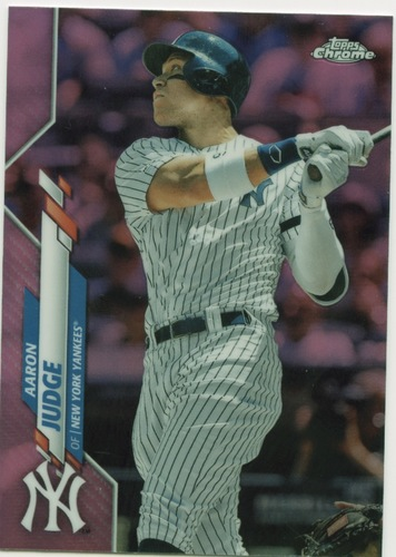 Photo of 2020 Topps Chrome Pink Refractors #50 Aaron Judge