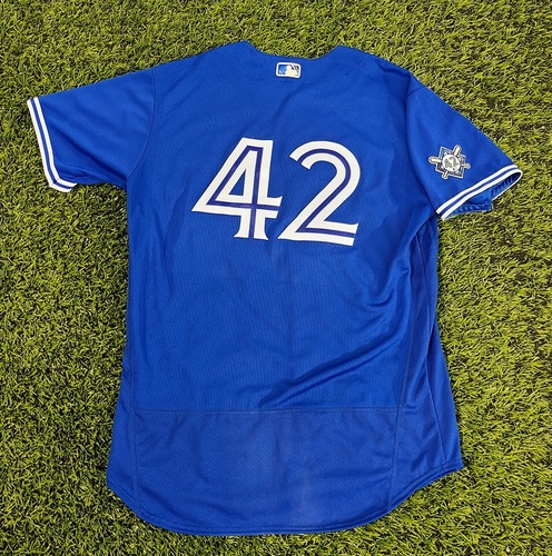 Photo of CHARITY AUCTION: Authenticated Team Issued #42 Jersey: Tanner Roark (2020 Season). Size 48.