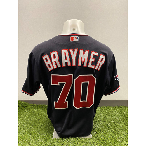 Photo of Ben Braymer 2020 Game-Used World Series Champions Navy Script Jersey