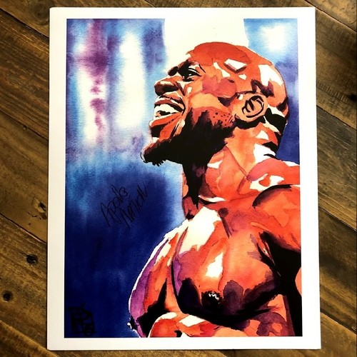 Photo of Apollo Crews SIGNED 11 x 14 Rob Schamberger Print (Triumphant)