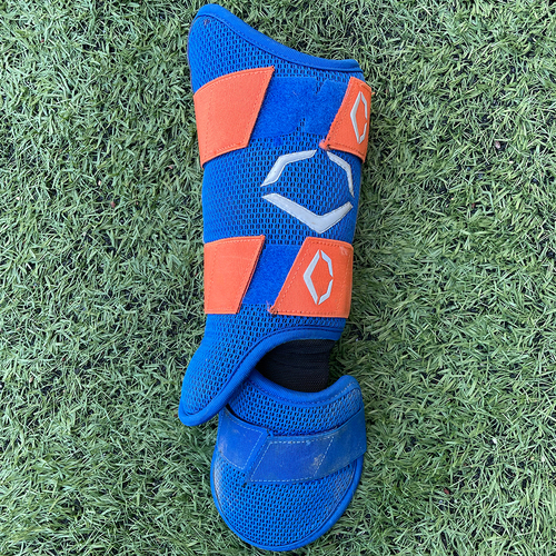 Photo of Team Issued Ankle Guard - Blue and Orange EvoShield - 2020 Season