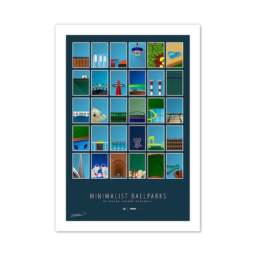 Photo of UMPS CARE AUCTION: S. Preston Minimalist MLB Ballparks Medium Framed Print