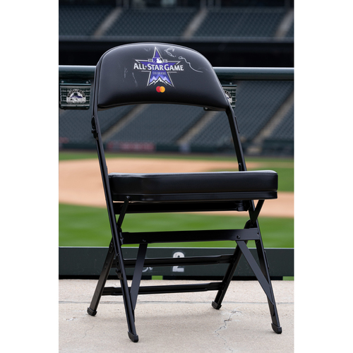 Photo of 2021 Celebrity Softball Game Autographed On Field Chair - Chase Carter
