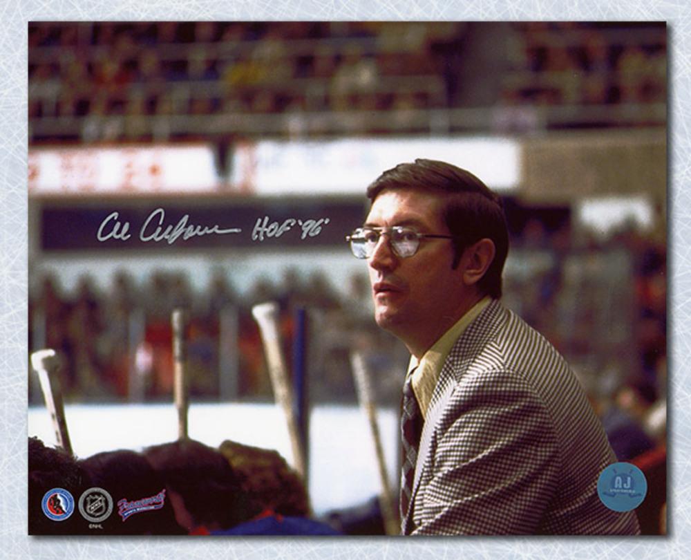 Al Arbour New York Islanders Autographed NHL Coach 8x10 Photo