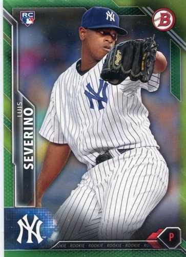 Photo of 2016 Bowman Green #135 Luis Severino 42/99