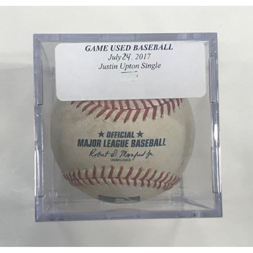 Photo of Game-Used Baseball: Justin Upton Single