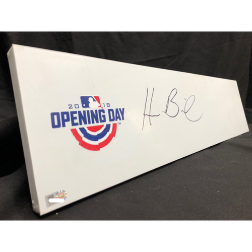 Photo of Homer Bailey Autographed Pitching Rubber -- Commemorative 2018 Opening Day Pitching Rubber (Autograph NOT MLB Authenticated)