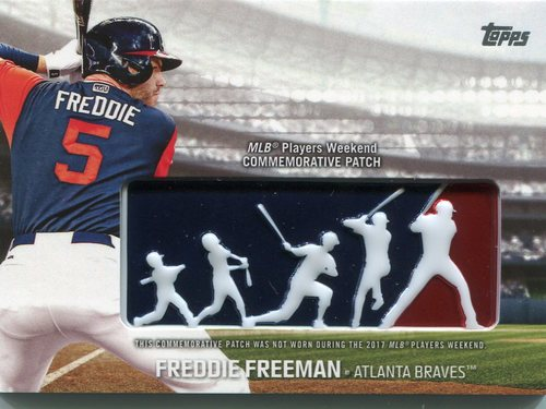 Photo of 2018 Topps Players Weekend Patches #PWPFF Freddie Freeman