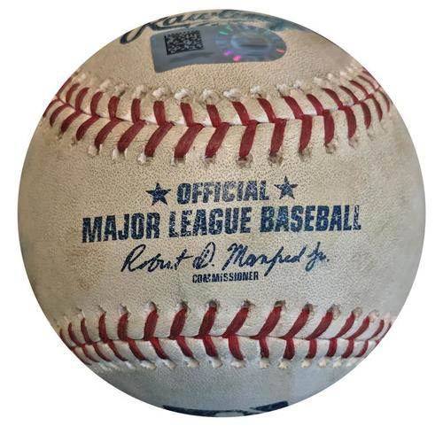 Photo of Game-Used Baseball from Pirates vs. Cardinals on 5/27/18 - Harrison Bader RBI Single