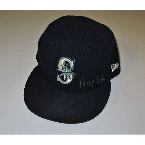 Photo of Seattle Mariners Edwin Diaz Team Issued 2017 Navy Cap