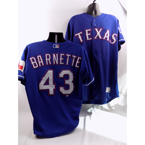 6/19/18 - Game-Used Blue Jersey - Tony Barnette