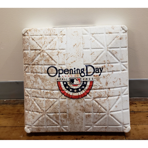 Photo of Game-Used Opening Day Base: Washington Nationals at New York Mets - 1st Base Used in Innings 7-9 - 4/8/11