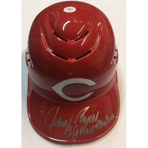 "Photo of Johnny Bench ""Big Red Machine"" Autographed Reds Batting Helmet"