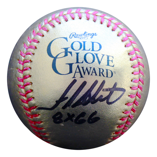 Photo of Autographed Golden Baseball: Frank White
