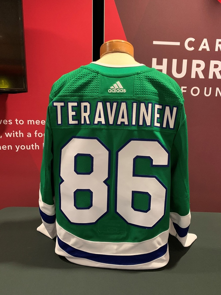 Teuvo Teravainen #86 Autographed, Game Worn Hartford Whalers Jersey