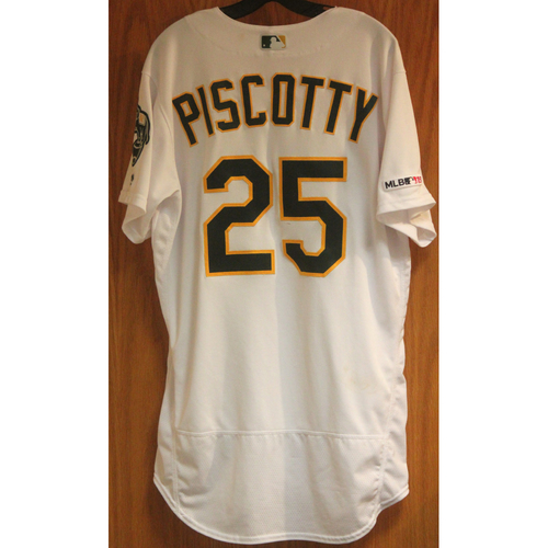 Photo of Game Used Jersey: Stephen Piscotty 4 hits (HR #4), 5 RBI