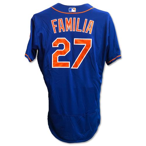 Photo of Jeurys Familia #27 - Game Used Blue Alt. Home Jersey - 1 IP, 0 ER, 1 K's - Mets vs. Braves - 9/27/19