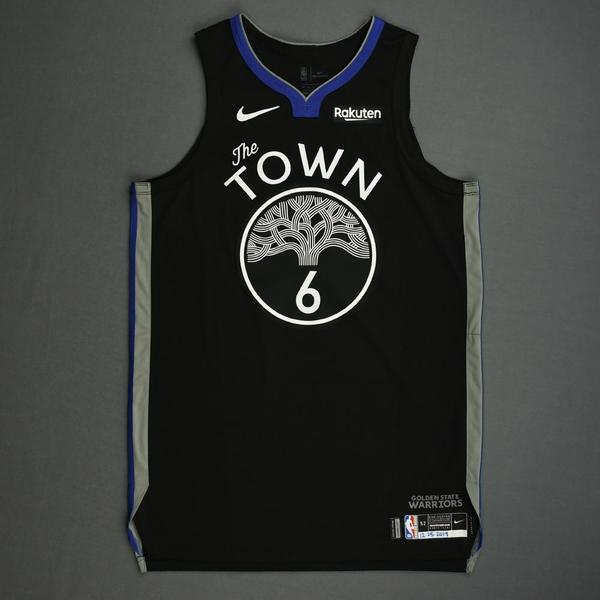 Image of Alen Smailagic - Golden State Warriors - Christmas Day' 19 - Game-Worn City Edition Jersey - Dressed, Did Not Play