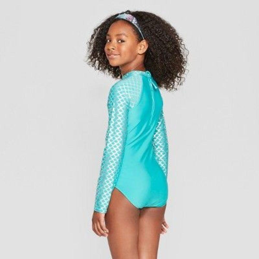 Photo of Girls' Mermaid Whispers Activewear Bodysuit - Cat & Jack PLUS