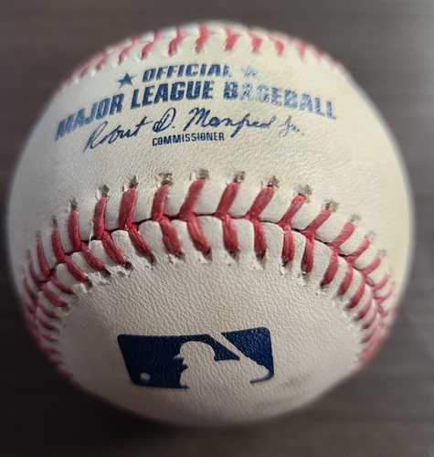 Photo of Authenticated Game Used Baseball: Foul by Anthony Santander against Sean Reid-Foley (Aug 30, 20 vs BAL). Top 7. Game played in Buffalo.