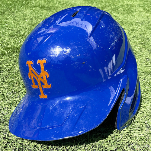 Photo of Todd Frazier #21 - Game Used Blue Batting Helmet - Size 7 1/2 - Mets vs. Rays - 9/22/20