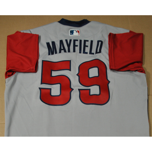 Photo of Game-used Jersey - 2021 Little League Classic - Los Angeles Angels vs. Cleveland Indians - 8/22/2021 - West, Jack Mayfield #59
