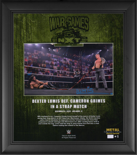 Lumis SIGNED NXT TakeOver WarGames 2020 Signature Series Plaque (#1 of 1)