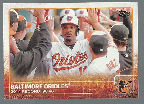 Photo of 2015 Topps #19 Baltimore Orioles
