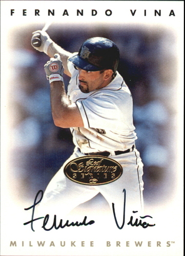Photo of 1996 Leaf Signature Autographs Gold #231 Fernando Vina