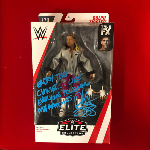 Photo of Dolph Ziggler SIGNED Elite Series Action Figure