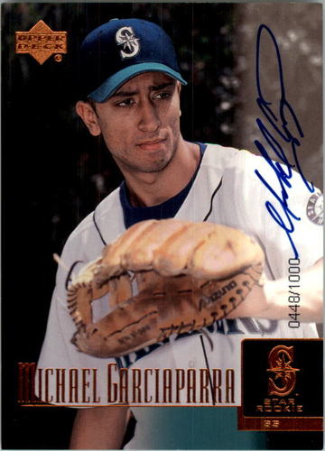 Photo of 2001 Upper Deck Prospect Premieres #97 Michael Garciaparra AU XRC