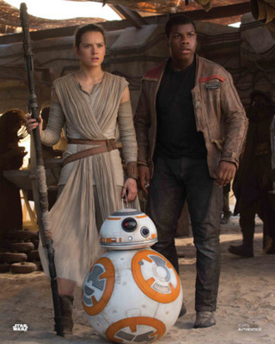 Rey, BB-8 and Finn