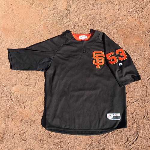 San Francisco Giants - 2017 Team-Issued Batting Practice Jersey #53 Austin Slater (Size: XL)