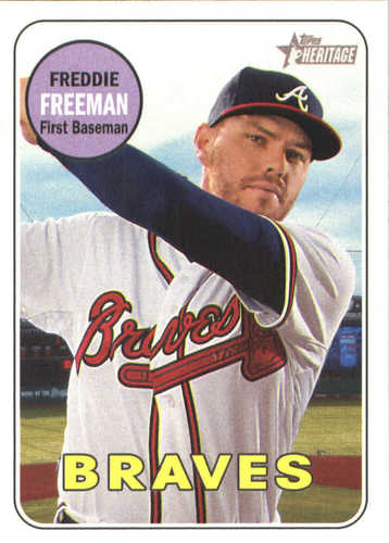 Photo of 2018 Topps Heritage #219 Freddie Freeman