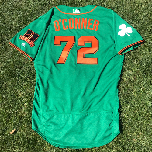 Photo of San Francisco Giants - 2018 St. Patrick's Day - Game-Used Jersey - Justin O'Conner