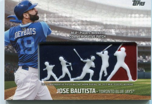 Photo of 2018 Topps Players Weekend Patches #PWPJB Jose Bautista