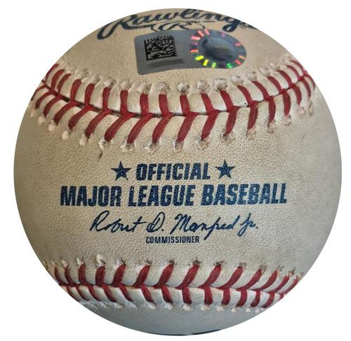 Photo of Game-Used Baseball from Pirates vs. Cubs on 5/28/18 - Brault Strikes Out Happ