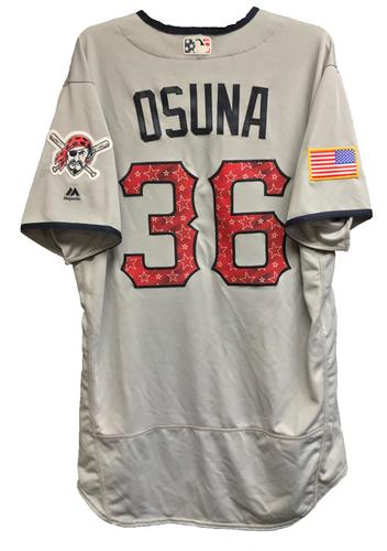 Photo of Jose Osuna Team-Issued 2018 Stars and Stripes Jersey