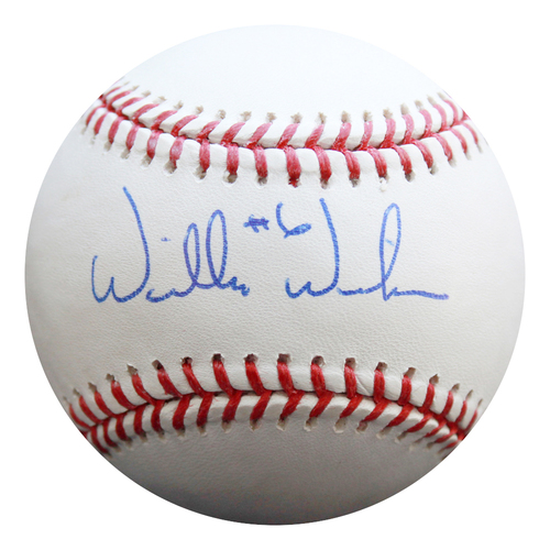 Photo of Autographed Baseball: Willie Wilson